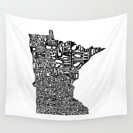 Typographic Minnesota Wall Tapestry