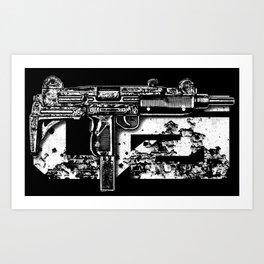 Uzi Art Print