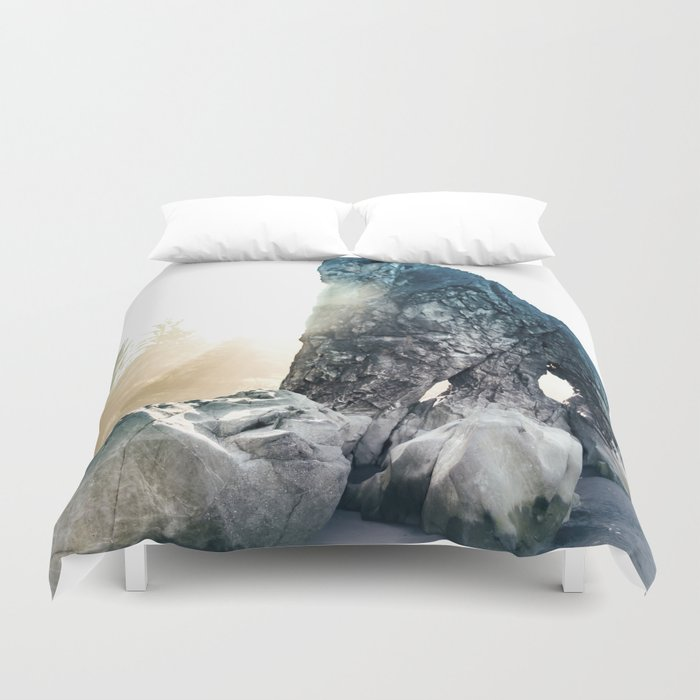 Protector Of Ruby Beach Duvet Cover