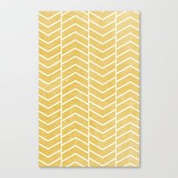chevron Canvas Prints featuring Yellow Chevron by Zeke Tucker