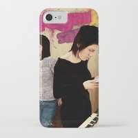 tegan and sara iPhone & iPod Cases featuring Tegan and Sara by Mr. Frogo