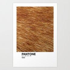 Pantone Ginger Art Print