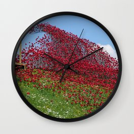 Fort Nelson Poppy Wave Wall Clock