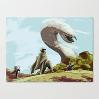 arrakis Canvas Prints featuring Arrakis by Important Business Dinosaur