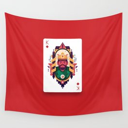 King of Diamond Wall Tapestry