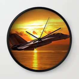 Sunset Flight Wall Clock