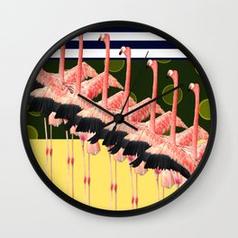flamingodance Wall Clock