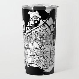 Manama City Map Bahrain - Full Moon Travel Mug