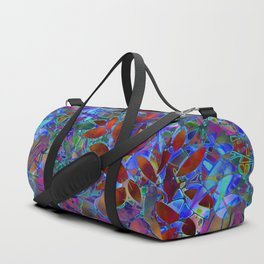 Floral Abstract Stained Glass G174 Duffle Bag