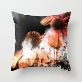 """Stalactites and Coneflowers"" Throw Pillow"