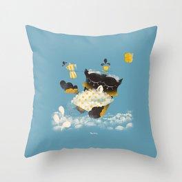 Corujitear (to owl) - Rodrigo Troitiño Throw Pillow