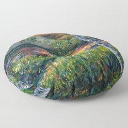 Sleeping Meadow (palette knife) Floor Pillow