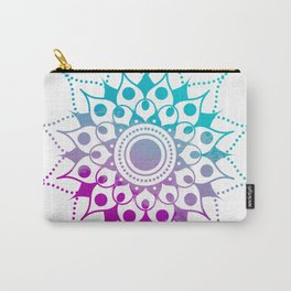 Mandala #2 (Purple Pink Turquiose) Carry-All Pouch