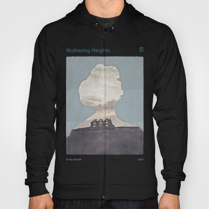 Emily Brontë Wuthering Heights - Minimalist literary design Hoody