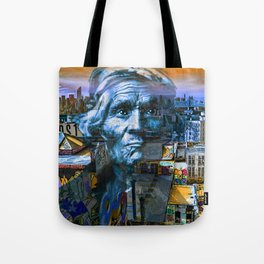 Ghost Tribe Native Americans in New York Blue Tote Bag