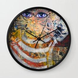 Enchanted Feline and Mona Wall Clock