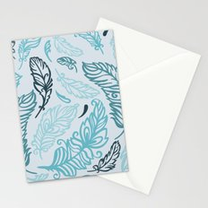 Pattern with colored feathers Stationery Cards