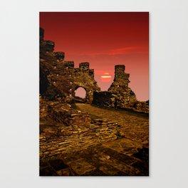 Sun Set Castle Canvas Print