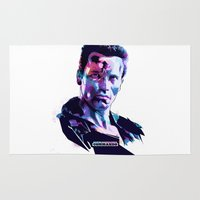 arnold Area & Throw Rugs featuring Arnold Schwarzenegger: BAD ACTORS by Largetosti