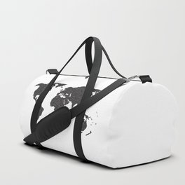 World Outline Dots Duffle Bag