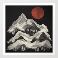 Moon Lake... Art Print