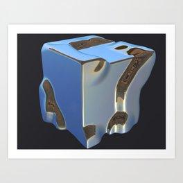 Platinum Bluesteel Art Print