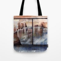 mirror Tote Bags featuring mirror by Andreas Derebucha
