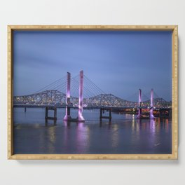 Lincoln Bridge Louisville, KY Serving Tray