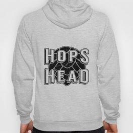 Hops Head - Beer Sign - Painted Wood Sign Hoody