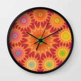 Colorful Fractal Mandala Wall Clock