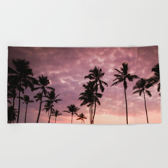 LA Sunset Beach Towel