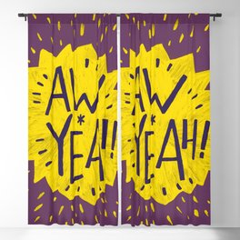 Aw Yeah! // Purple and Yellow Blackout Curtain