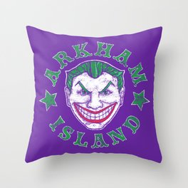 Arkham Island Throw Pillow