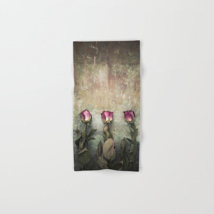 Three dried Roses Hand & Bath Towel