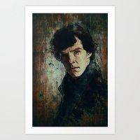 sherlock Art Prints featuring Sherlock by Sirenphotos