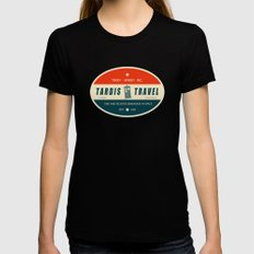 Tardis Travel - Fantasy Travel Logo Black Womens Fitted Tee X-LARGE