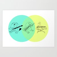 math Art Prints featuring Math by tenso GRAPHICS