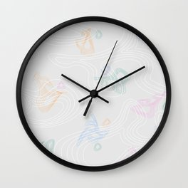 non-objective graphic Wall Clock