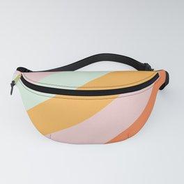 Summer Sorbet Pastel Curved Stripes Fanny Pack