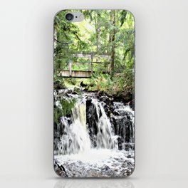 Bridge Over Waterfall iPhone Skin