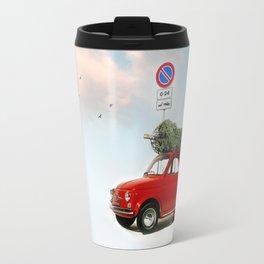 Fiat 500 for Christmas Travel Mug