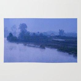 LI RIVER AT DAWN-GUILIN CHINA Rug