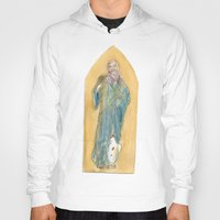 benedict Hoodies featuring Saint Benedict by Tricksterbelle Productions