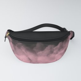 Black with Pink Smoke Minimal Fanny Pack