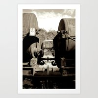 Train carriages Art Print