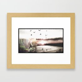 Dreamy Beach Day Framed Art Print