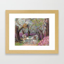 Vintage Woodland Tea Party Framed Art Print