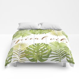 Tropical Vibes - Palms Comforters