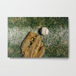 Baseball Season Equipment Metal Print
