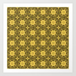 Primrose Yellow Floral Art Print
